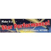 Eureka® Kindergarten - 12th Grades Colorful Classroom Banner, Movie Theme Motivational