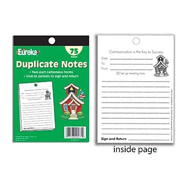 Eureka® School Supplies Duplicate Notes Book With Carbonless Sheets