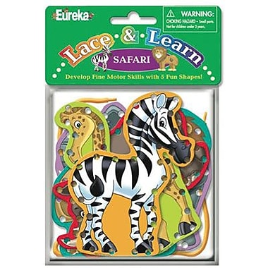 Eureka® Safari Animals Lace and Learn