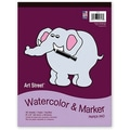 Pacon® Art Street® White Watercolor and Marker Pad, 12in. x 9in.