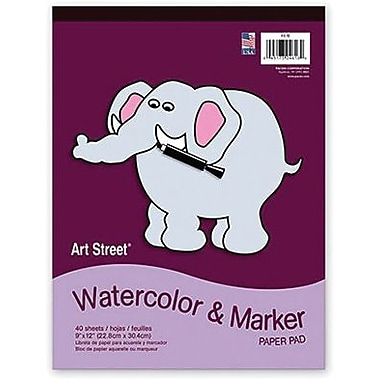 Pacon® Art Street® White Watercolor and Marker Pad, 12