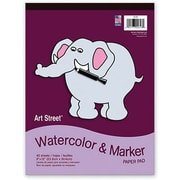 "Pacon® Art Street® White Watercolor and Marker Pad, 12"" x 9"""
