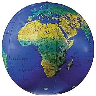 """""Replogle Globes Inflatable Topographical Globe, 12""""""""(Dia)"""""" 932907"