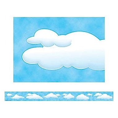 Teacher Created Resources® pre-school - 12th Grades Straight Bulletin Board Border Trim, Clouds