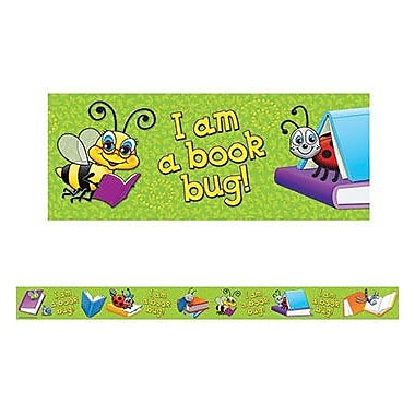 Teacher Created Resources® pre-school - 8th Grades Straight Bulletin Board Border Trim, Book Bug