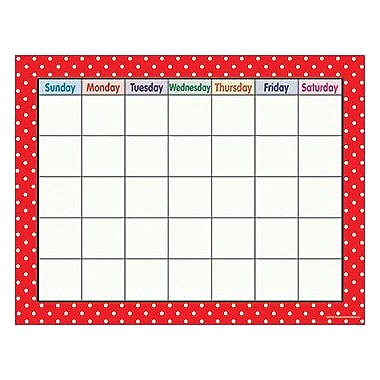 Teacher Created Resources® Polka Dots Calendar Chart, Red