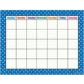 Teacher Created Resources® Polka Dots Calendar Chart, Blue