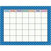 Teacher Created Resources® Polka Dots Calendar Chart, Blue