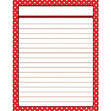 Teacher Created Resources® Polka Dots Lined Chart, Red