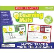 Teacher's Friend® Match, Trace and Write the Alphabet Learning Mat, Grades Pre K - 3rd