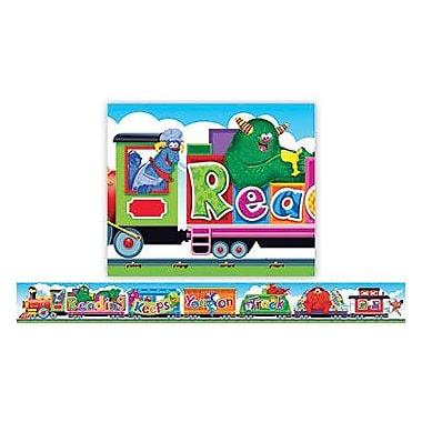 Trend Enterprises® Pre-kindergarten - 6th Grades Banner, Furry Friends Reading Train
