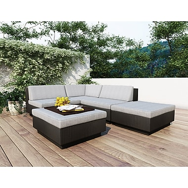 Sonax™ Park Terrace 5-Piece Sectional Patio Set, Textured Black