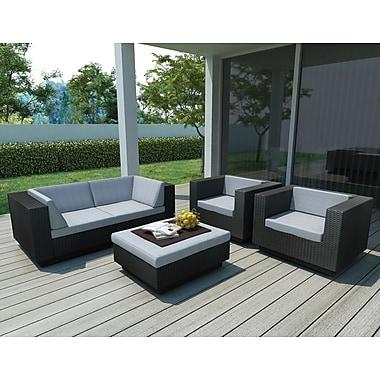 Sonax™ – Mobilier de patio de 5 meubles de la collection Park Terrace, noir, tressé