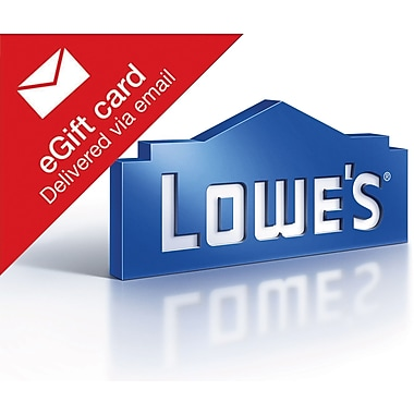 Lowes Gift Card, $50 (Email Delivery)