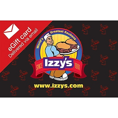 Izzy's Gift Card, $100 (Email Delivery)