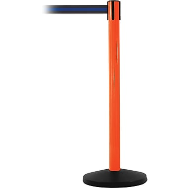 SafetyMaster 450 Orange Retractable Belt Barrier with 8.5' Black/Blue Belt