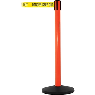 SafetyMaster 450 Orange Retractable Belt Barrier with 8.5' Yellow/Black DANGER Belt