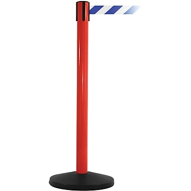 SafetyMaster 450 Red Retractable Belt Barrier with 8.5' Blue/White Belt