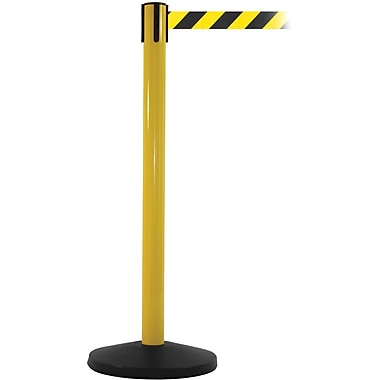 SafetyMaster 450 Yellow Retractable Belt Barrier with 8.5' Black/Yellow Belt