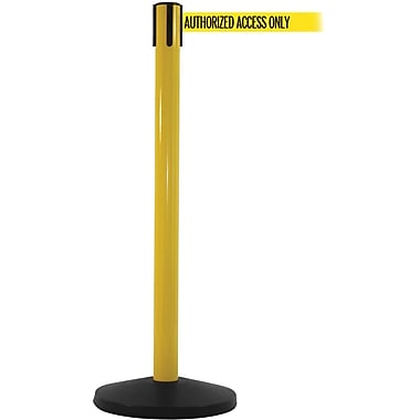 SafetyMaster 450 Yellow Retractable Belt Barrier with 8.5' Yellow/Black AUTHORIZED Belt