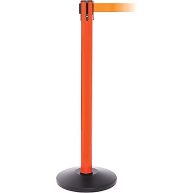 SafetyPro 250 Orange Retractable Belt Barrier with 11' Orange Belt