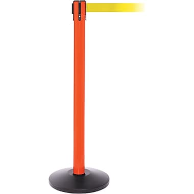 SafetyPro 250 Orange Retractable Belt Barrier with 11' Yellow Belt