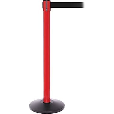 SafetyPro 250 Red Retractable Belt Barrier with 11' Black Belt