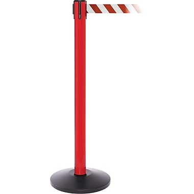 SafetyPro 250 Red Retractable Belt Barrier with 11' Red/White Belt