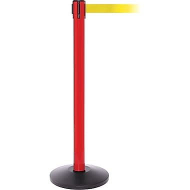 SafetyPro 250 Red Retractable Belt Barrier with 11' Yellow Belt