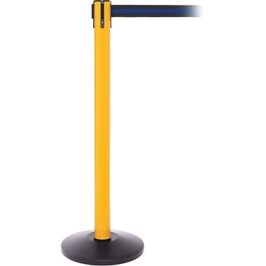 SafetyPro 250 Yellow Retractable Belt Barrier with 11' Black/Blue Belt