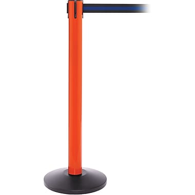 SafetyPro 300 Orange Retractable Belt Barrier with 16' Black/Blue Belt