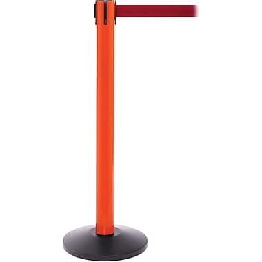 SafetyPro 300 Orange Retractable Belt Barrier with 16' Red Belt