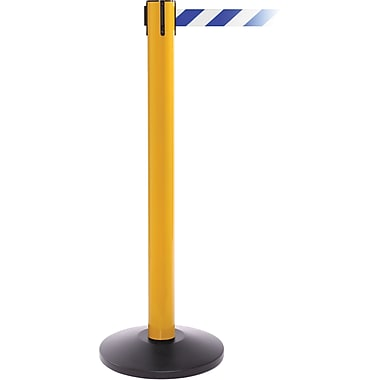 SafetyPro 300 Yellow Retractable Belt Barrier with 16' Blue/White Belt