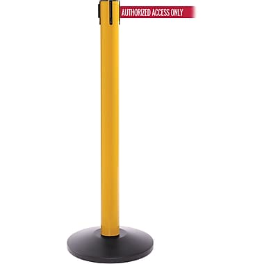 SafetyPro 300 Yellow Retractable Belt Barrier with 16' Red/White AUTHORIZED Belt