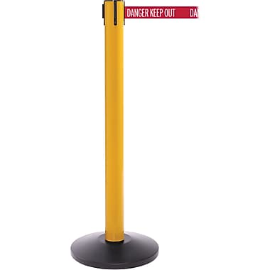 SafetyPro 300 Yellow Retractable Belt Barrier with 16' Red/White DANGER Belt