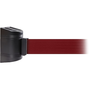 WallPro 300 Black Wall Mount Belt Barrier with 13' Maroon Belt