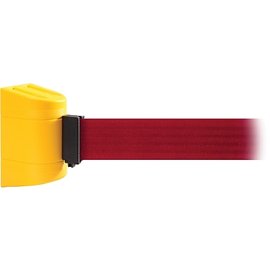 WallPro 300 Yellow Wall Mount Belt Barrier with 10' Red Belt