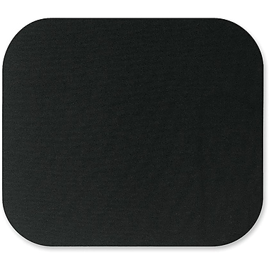 Fellowes® 0.2in.(D) Nonskid Base Natural Rubber Mouse Pad, Black
