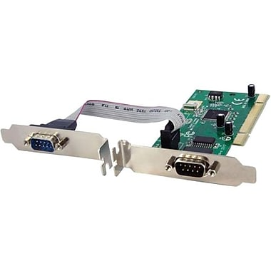 Startech.Com® PCI2S950DV 2 Port PCI Standard Profile Serial Adapter Card