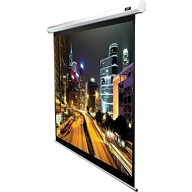Elite Screens™ Spectrum Series 84in. Electric Wall and Ceiling Projector Screen, 16:9, White/Black
