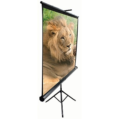Elite Screens™ TriPod Series 99in. Pull Up Portable Projector Screen, 1:1, Black Casing