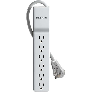 Belkin® BE106000-06R 6-Outlets 720 Joules Home/Office Surge Protector With 6' Cord