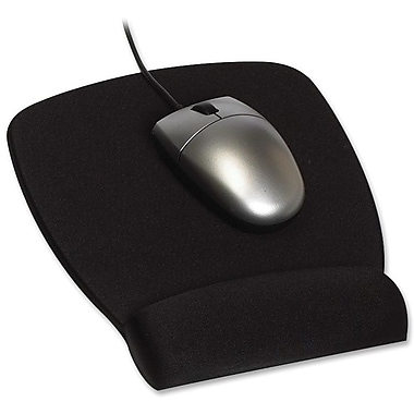 3M™ 0.8in.(D) Nonskid Base Plastic Mouse Pad Wrist Rest, Black