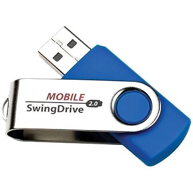 EP Memory Mobile SwingDrive EPSW USB 2.0 Blue Flash Drive, 4GB