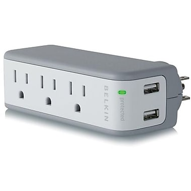 Belkin® BZ103050QTVL 5-Outlets 918 Joules Mini Surge Protector With USB Charger