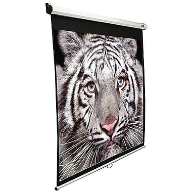 Elite Screens™ Manual Series 84in. Pull Down Wall and Ceiling Projector Screen, 16:9, White Casing
