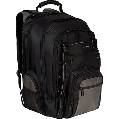 Targus® TCG216US CityGear Backpack For 17in. Laptops, Black/Gray/Yellow