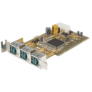 Startech.com® 3 Port Low Profile PCI 12 V Powered USB Adapter Card