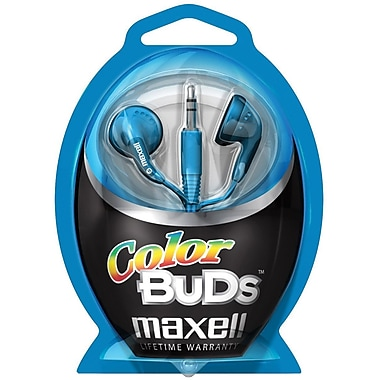 Maxell® 190541 Color Buds In-Ear Stereo Earphone, Blue