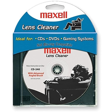 Maxell CD-240 CD/DVD Lens Cleaner, Each